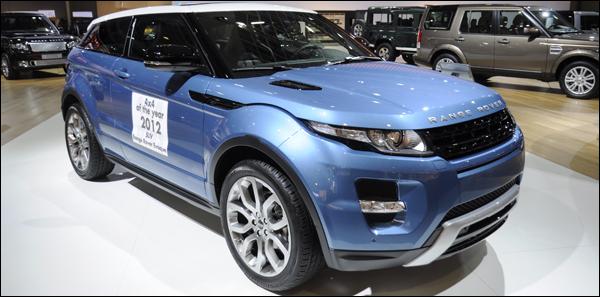 Range rover evoque autosalon brussel 2012