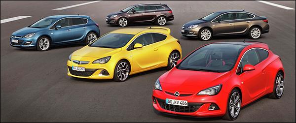 Opel Astra Facelift 2012