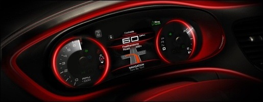 Dodge Dart Interieur Teaser