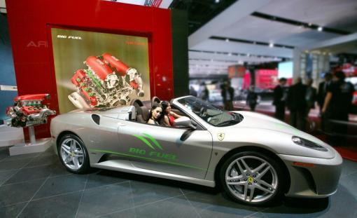 Ferrari F430 Spider Bio Fuel Concept Groenlicht Be