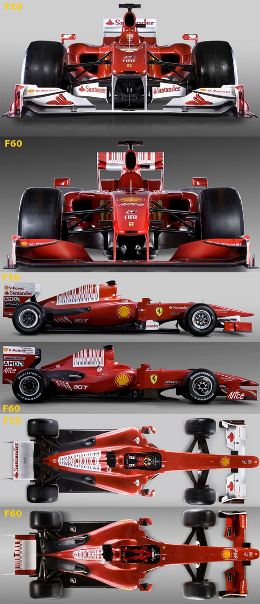 Ferrari F10 vs F60