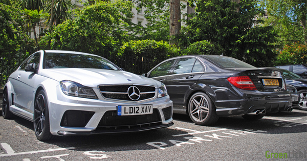 Gespot: Mercedes C63 AMG Coupe Black Series