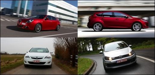 Poll Alfa Giulietta Ford Focus Opel Astra Volkswagen Golf