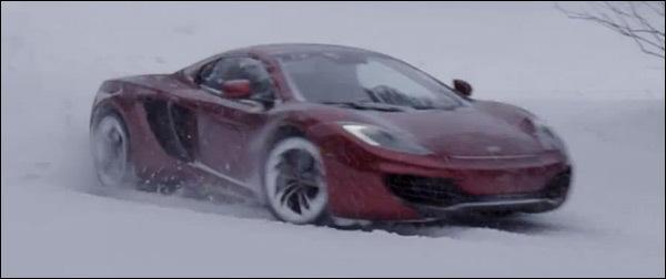 Video snow McLaren MP4-12C Spider