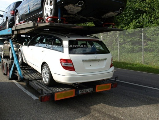 Gespot Mercedes C-Klasse Break Facelift