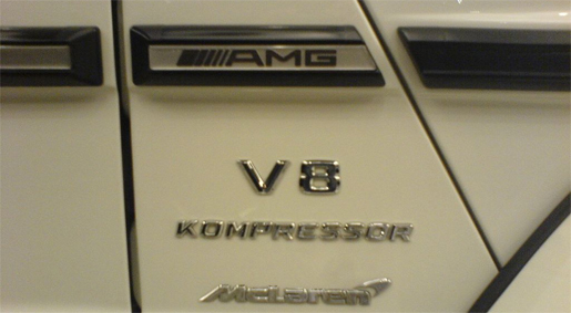 Mercedes G55 AMG SLR engine