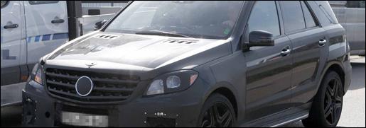 Mercedes ML63 AMG spyshots