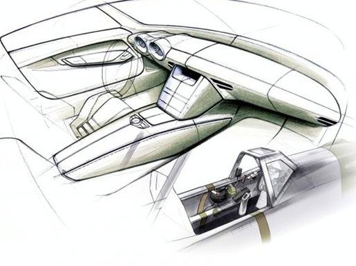 Mercedes SLS AMG Schetsen