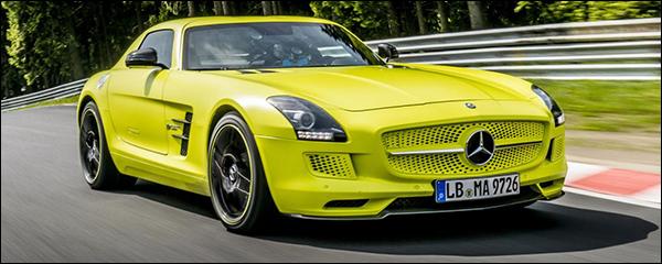 Mercedes SLS AMG Electric Drive knalt op de Nuburgring record