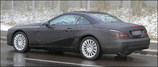 Mercedes SL 2012 spyshot