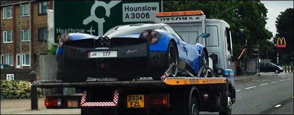 Pagani Huayra Londen supercars arab