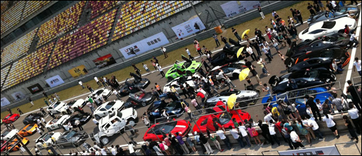 Sick supercar event at China