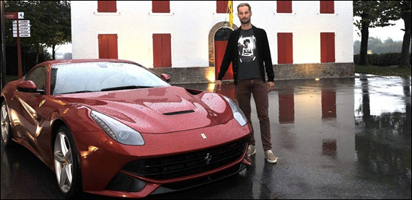 Tom Boonen Ferrari F12 Berlinetta
