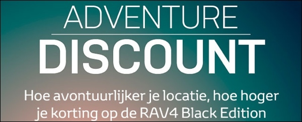 Toyota RAV4 Adventure Discount App