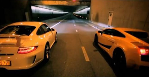 video Lamborghini Gallardo Superleggera vs Porsche 911 GT3