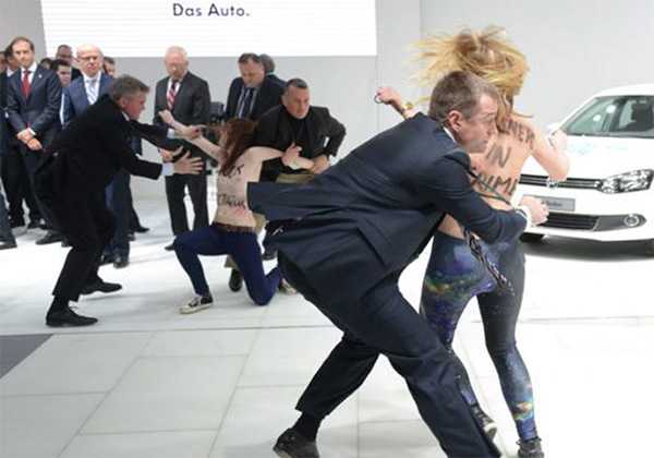 Volkswagen protest borsten
