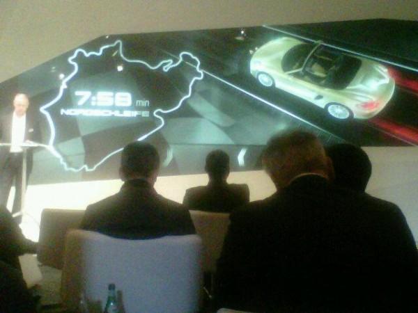 Porsche Boxster S Nurburgring Tijd