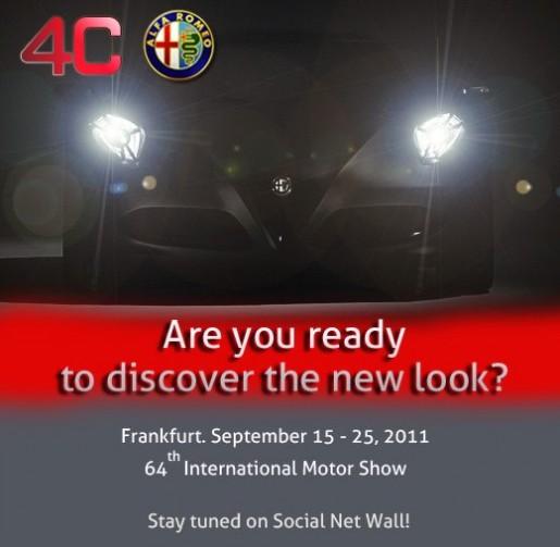 Alfa Romeo 4C Teaser Frankfurt