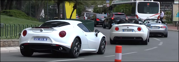Video: Alfa Romeo 4C & 8C cruisen door Monaco