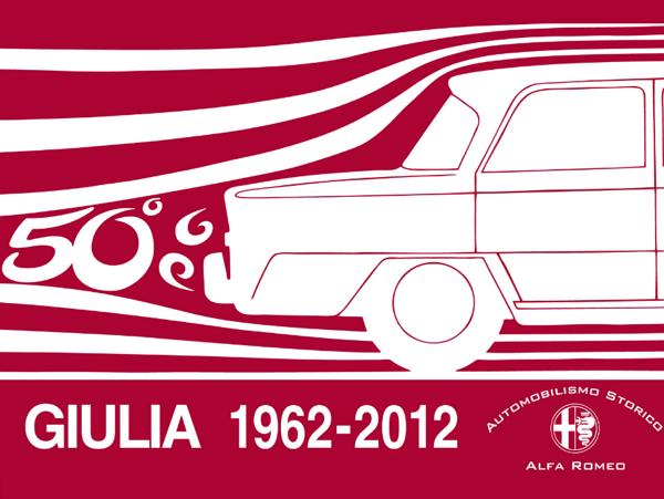 Alfa Romeo Giulia 50 Jaar 1962 logo