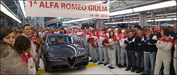 Productie Alfa Romeo Giulia officieel van start!