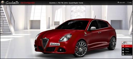 Alfa Romeo Giulietta Car Configurator