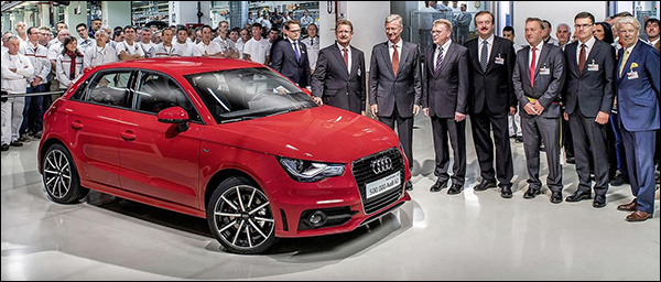 Feest! Audi A1 nummer 500.000 is rood!