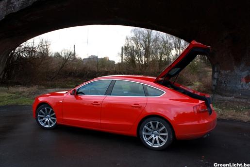 Audi A5 Sportback Rijtest Exterieur koffer