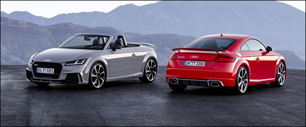 Officieel: Audi TT RS Coupé + TT RS Roadster (2016) [400 pk / 480 Nm]
