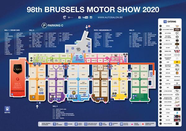 Autosalon van Brussel 2020 - overzicht plan