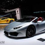 Autosalon van Geneve 2017 - Lamborghini Aventador S vs Huracan LP580-2 Spyder