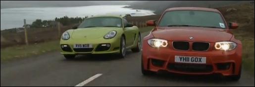 BMW 1M Coupe vs Porsche Cayman R