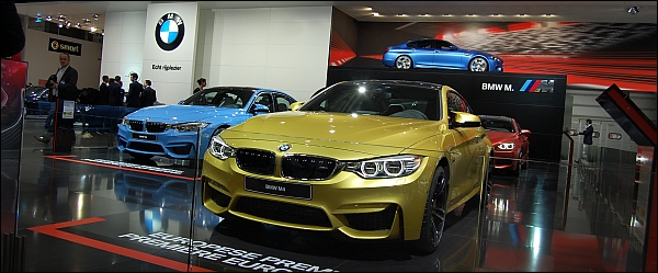 BMW Autosalon Brussel 2014 - M4 Coupe M3 Berline Header
