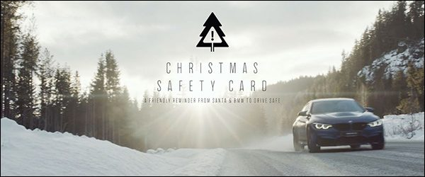 Video: BMW Belux M Christmas Safety Card (2017)