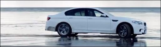 BMW M5 Strandwandeling