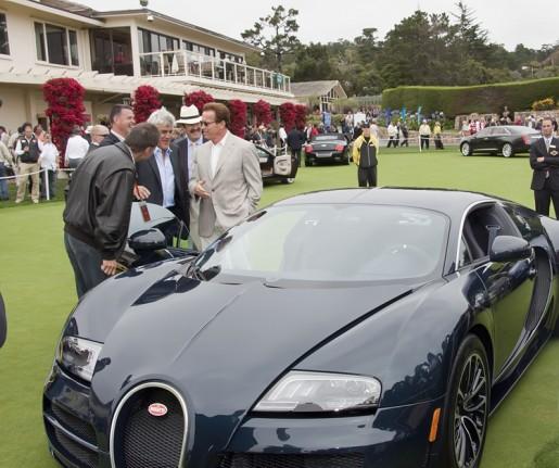 governator bezoekt bugatti veyron super sport. Black Bedroom Furniture Sets. Home Design Ideas