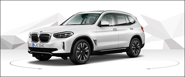 Belgische prijs BMW iX3 (2020) vanaf 69.950 euro