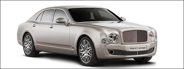 Bentley Hybrid Concept kan zo aan de stekker