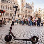Elektrische Bird deelsteps beschikbaar in Brussel