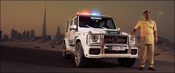 Brabus onthult de G 63 AMG B63S 700 Widestar Dubai Police