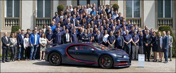 Honderdste Bugatti Chiron is een feit