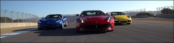 Chevrolet Corvette vs Porsche 911 vs Ferrari F12