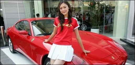 Chinese babe Ferrari