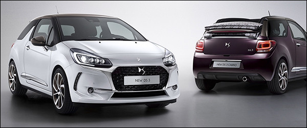 Officieel: DS3 en DS3 Cabrio facelift (2016)