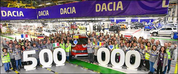 500.000ste Dacia Duster van de tweede generatie rolt van de band (2019)