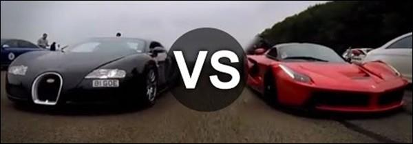 Dragrace: Ferrari LaFerrari vs Bugatti Veyron