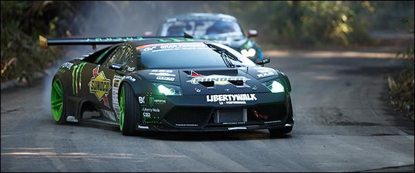 Driftvideo: Lamborghini Murciélago vs Ford Mustang V8