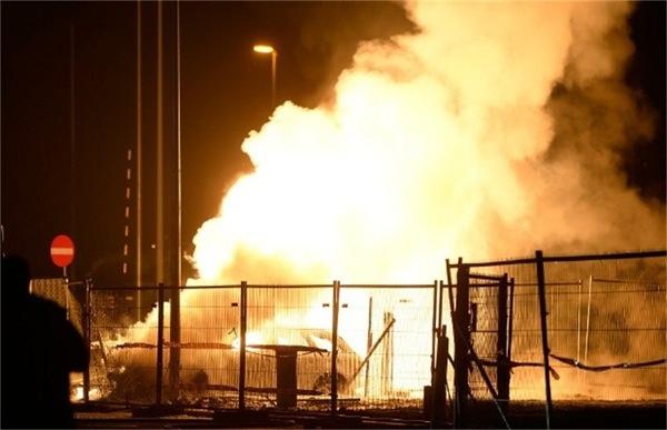 E40 Wetteren brand