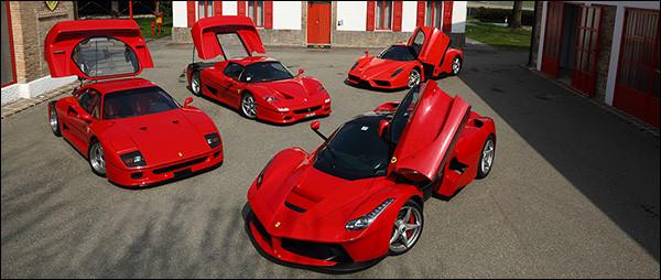 Video: Ferrari F40 + F50 + Enzo + LaFerrari op Fiorano - Dario Benuzzi