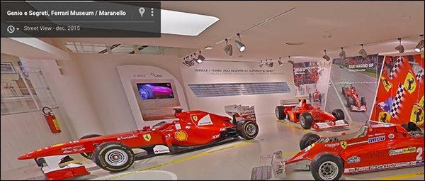 Bezoek Ferrari Museum met Google Streetview